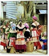 Flower Hmong Women 02 Acrylic Print