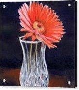 Flower In Crystal Vase Acrylic Print