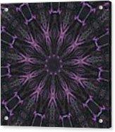 Flower Kaleidoscope Acrylic Print