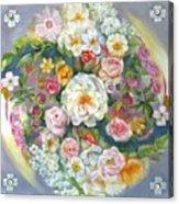 Flower Mandala #1 Acrylic Print