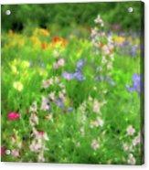 Flower Mosaic Acrylic Print