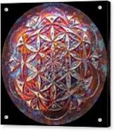 Flower Of Life Copper Lightmandala Acrylic Print