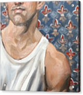 Flower Of Louis, 11x14 Inches Ol On Panel By Kenney Mencher  Acrylic Print