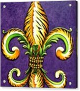 Flower Of New Orleans Lsu Acrylic Print