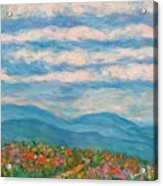 Flower Path To The Blue Ridge Acrylic Print