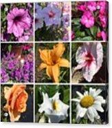 Flower Pattern Acrylic Print