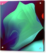 Flower Pedal Teal Two Acrylic Print
