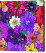Flower Pond Vertical Acrylic Print