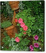Flower Pot Tapestry Acrylic Print