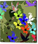 Flower Power 48 Acrylic Print