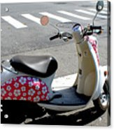 Flower Power For A Montreal Motor Scooter Acrylic Print