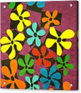 Flower Power Acrylic Print by Teddy Campagna