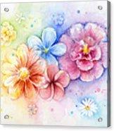 Flower Power Watercolor Acrylic Print