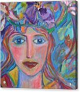 Flower Princess Acrylic Print