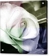 Flower Quadrant Colors Acrylic Print