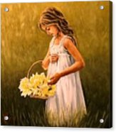 Flower S Basket Acrylic Print