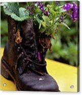 Flower Shoe Pot Acrylic Print