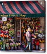Flower Shop - Ny - Chelsea - Hudson Flower Shop  Acrylic Print
