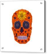 Flower Skull 1 Acrylic Print