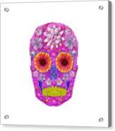 Flower Skull 2 Acrylic Print