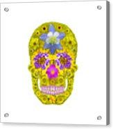 Flower Skull 3 Acrylic Print