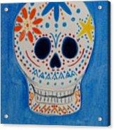 Flower Skull Acrylic Print