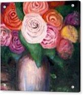 Flower Spirals Acrylic Print