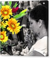 Flower Stall Acrylic Print
