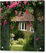 Flower Trellis England Acrylic Print