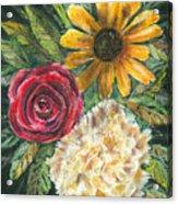 Flower Trio Acrylic Print