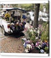 Flower Truck On Nantucket Acrylic Print
