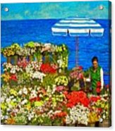 Flower Vendor In Sea Point Acrylic Print