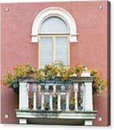Flowered Italian Balcony Acrylic Print