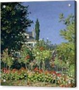 Flowering Garden At Sainte-adresse Acrylic Print