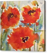 Poppies Wanted Acrylic Print