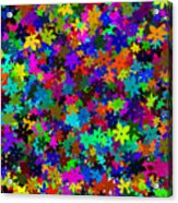 Flowers Abstract Acrylic Print