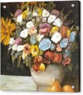 Flowers After Renoir Acrylic Print