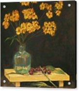 Flowers And Cherries Acrylic Print