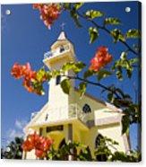 Flowers And Church On Takapoto Atoll Acrylic Print