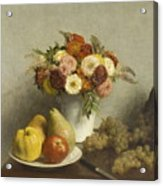 Flowers And Fruit 1865 Acrylic Print