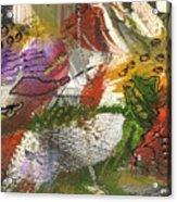 Flowers And Leaves IIi Acrylic Print