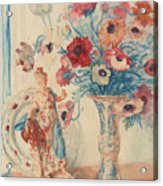 Flowers And Porcelain Acrylic Print