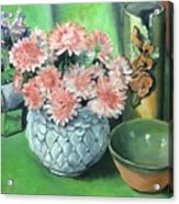 Flowers And Pottery Acrylic Print