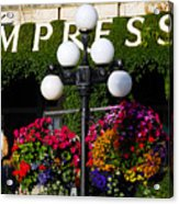Flowers At The Empress Acrylic Print