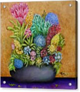 Flowers Base Acrylic Print