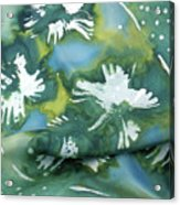 Flowers Floating On The Water Acrylic Print by Joanna White