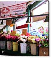 Flowers For Sale Acrylic Print