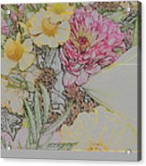 Flowers In A Bunch Acrylic Print