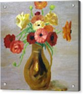 Flowers In A Pitcher -11 Yrs Old Acrylic Print