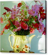 Flowers In A Teapot Acrylic Print